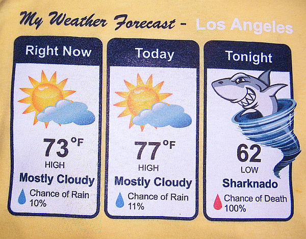 My Weather Forecast Los Angeles Sharknado